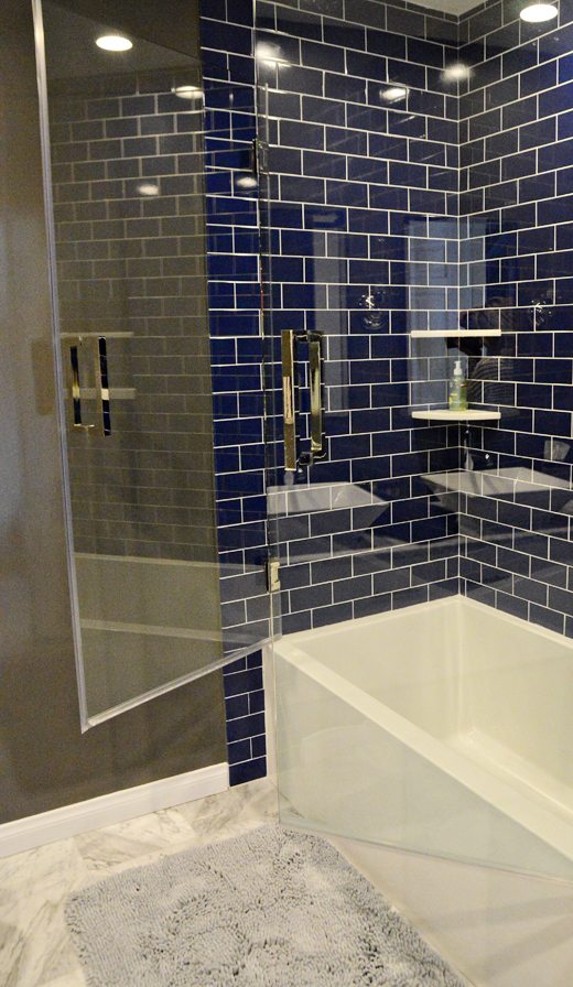Brand New Navy Blue Tiles Bathroom Vo91 Roccommunity
